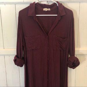 Anthropologie | Cloth & Stone Shirt Dress Large
